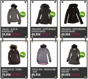 Jacken und Mäntel in allen Farben, Formen und Varianten.